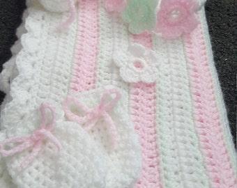 Baby pram blanket set