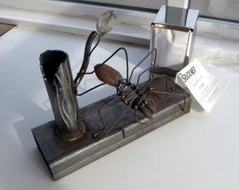 Steel Spider Sculpture