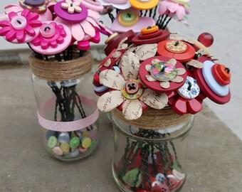 Button flower jar