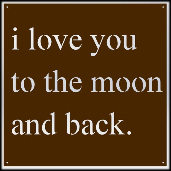 i love you to the moon and back wall art. Black Bedroom Furniture Sets. Home Design Ideas