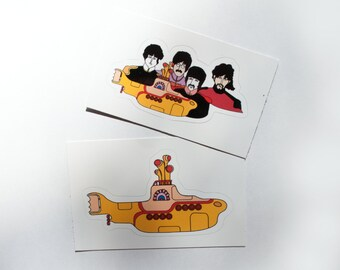 The Beatles Yellow Submarine Stickers