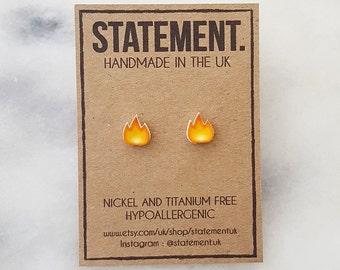 Fire / Hot / Lit / Snapstreak Emoji Stud Earrings - 1 pair