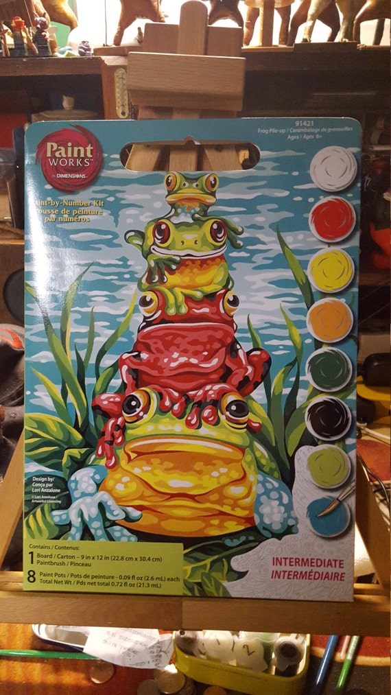 Very Cool Frog Pile up Paint By Number