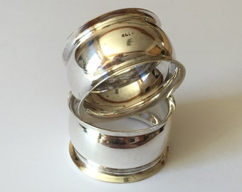 Serviette, Napkin Rings - Pair of Vintage Silver Plated Napkin Rings