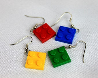 LEGO Hanging Plate Earrings
