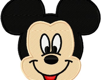 Mister Mr Mouse Head Solid Fill Embroidery Design 2x2 2.5x2.5 3x3 INSTANT DOWNLOAD