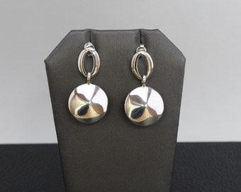 Handmade Conical Earrings Sterling Silver .925
