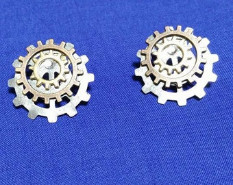 Steampunk Gear Earrings  #73