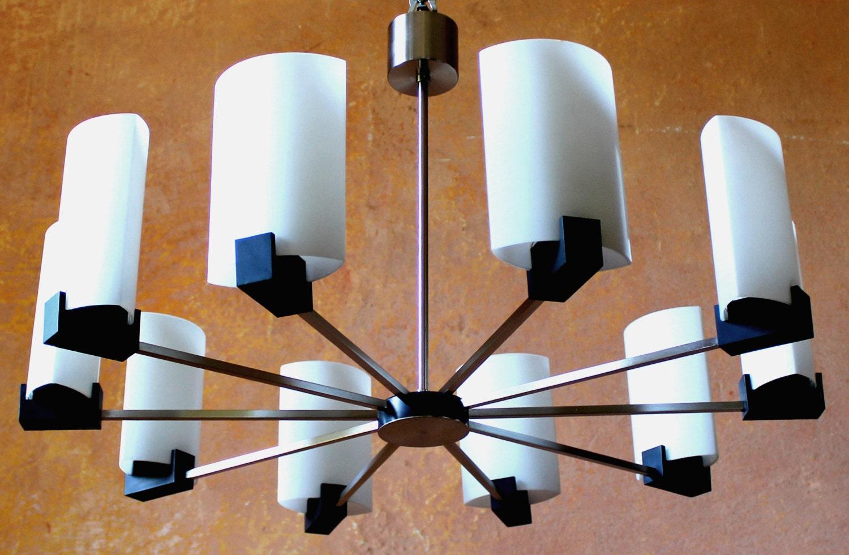 German kaiser spider 10 lights chandelier pendant by grafvonbrueck