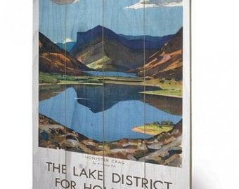 The Lake District for Holidays  Wooden Art Print/Wall Hanging  40 x 59cm (16 x 23.6 inches) SW11706P