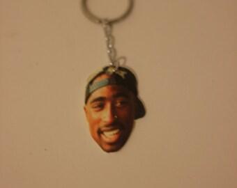Tupac Shakur keychain