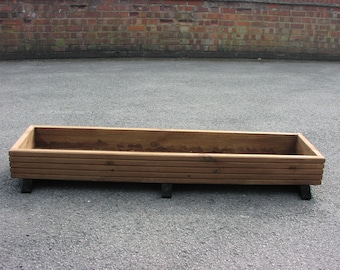 Decking planter trough
