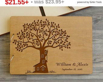 SALE! Personalized Wedding Guest Book Tree, Guest book Wedding, Wood Wedding Guest book, Guest Book, Bridal Shower Gift, Rustic Custom Gu...