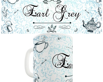 Decorative Earl Grey Tea Ceramic Funny Mug
