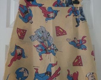 Handmade Retro Skirt (Superman)