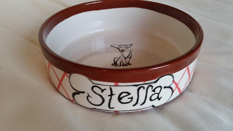 Hand Painted Ceramic Dog Bowl: Personalized Dog Bowls - photo#7