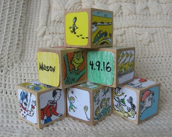 Personalized Dr. Seuss Blocks With Your Child's Name