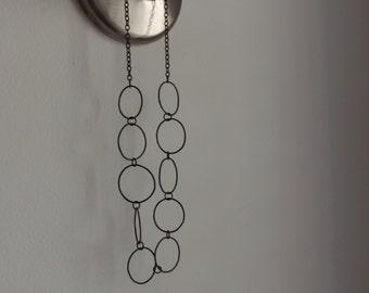 Black copper chain necklace
