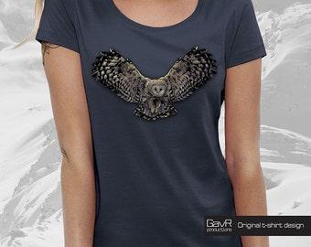 Owl for Women t-shirt,  Womens t shirt, owl tshirt, animalprint