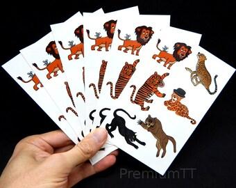 Premium Big Cat Tattoos: Lion, Cheetah, Tiger, Jaguar, Black Panther, Mountain Lion / Cougar