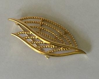Vintage Pin, Vintage Brooch,  Trifari  Brooch, Trifari Leaf Design Pin, Vintage Trifari