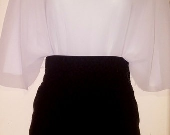 Set of skirt and blouse
