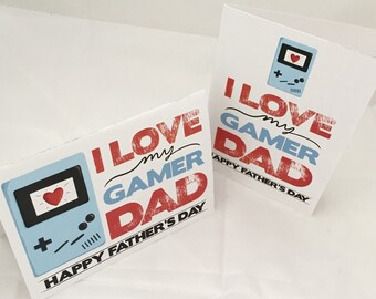 I love my gamer dad, Father's Day card