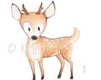 Deer - Woodland Animal Nursery Print