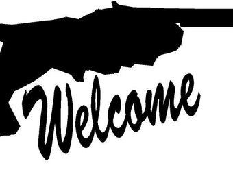 Florida Welcome Vinyl Window Decal Sticker