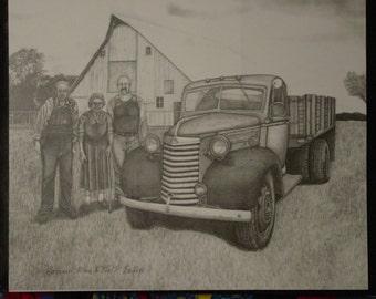 Pencil car drawing