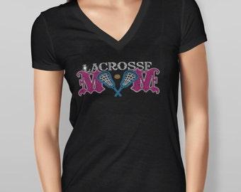 Lacrosse Mom Rhinestone Tshirt