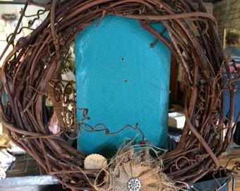 Burlap & Grapevine wreath