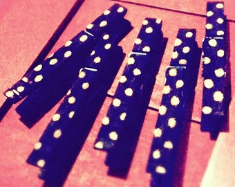 Black Polkadot Clothespins