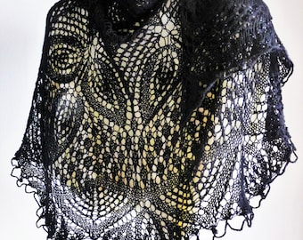 Wool shawl knitting, Haute couture, Handmade