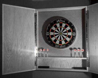 Good Solid Hardwood Dart Board Cabinets With Modern Lines