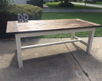 7ft Simple Farmhouse Table (Local Pick up/Delivery Only!)