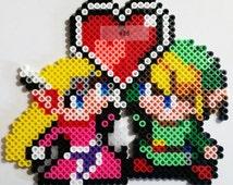 Zelda Loves Link Perler Beads