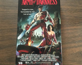 Army of Darkness VHS. MCA Universal. Horror. Cult. Kitschy.
