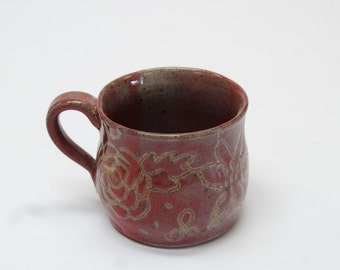 Etched Flower Mug II