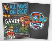 SALE - 50% OFF Paw Patrol Invitation, Paw Patrol Birthday Party, Paw Patrol Invite, Paw Patrol, Birthday Invitation, Birthday Invite