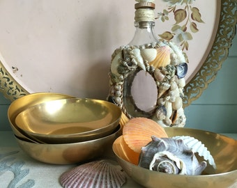 Gold Metal Bowls set of 4