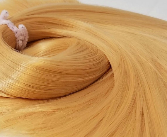 Barbarella Blonde Nylon Doll Rerooting Hair Hank for My Little Pony, Vintage Barbie, Monster High, Ever After, Sindy, Crissy Blythe Dolls