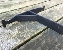 Single Decorative Rustic Metal Shelving Brackets, Steel Shelf Bracket, Iron Shelf, Heavy Duty Shelving Bracket