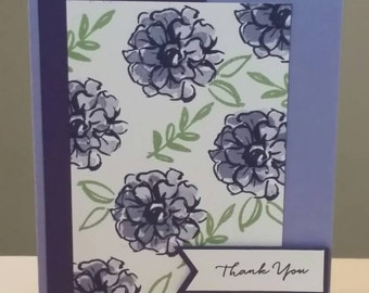 Thank You Card: Stampin Up, Thanks, Greeting Card, Handmade Card