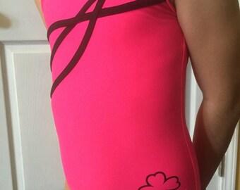 Gymnastics Dance Leotard Candy Pink XS, S, M,L, XL