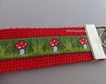 Lanyard Keychain, lucky charms, fly agaric, gift daughter wife girlfriend, souvenirs