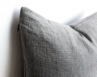 Stonewashed Linen Pillow Cover, Grey Pillow, Linen  Pillow Covers 20x20, 18x18, 16x16, 24x24, Grey Linen Pillow cases