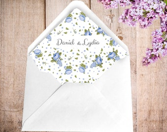 Vintage Stripes Envelope Liners - Personalised Designs by Lydia Britton