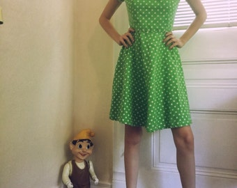 1950s Green Sun Dress Small