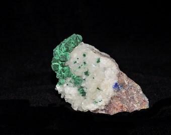 Malachite Azurite Quartz